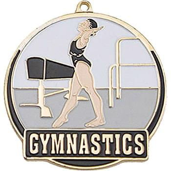 Stock Gold Enamel Sports Medals